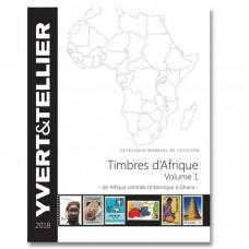 ÁFRICA, VOL. 1, ÁFRICA CENTRAL A GANA, 2018, YVERT & TELLIER