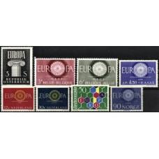 ANO DE 1960 - SELOS DO TEMA EUROPA, MNH (A ESCOLHER)