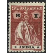 ÍNDIA, 1914, CERES, 8T., CE#268, VAR III-IV, MH