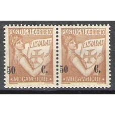 MOÇAMBIQUE, 1933, LUSÍADAS, AF#278, 50 c., par com impressão taxa deslocada, MH