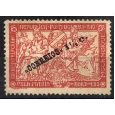 MOÇAMBIQUE, 1918/20, TAXA DE GUERRA, CE#202, VARIEDADE «TELFGRAFO», MH