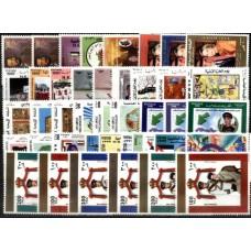 JORDÂNIA, 1997/99, GRUPO DE 15 SÉRIES DIFERENTES,  MNH