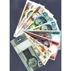 BRASIL - 10 NOTAS DIFERENTES, papel moeda bancária, UNC