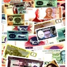 MUNDIAL, 50 NOTAS DIFERENTES, papel moeda bancária, UNC