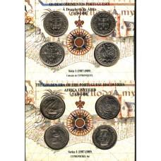 PORTUGAL, 1987/89, DESCOBRIMENTOS PORTUGUESES, SÉRIE I, 100§, MOEDAS