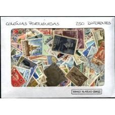 COLÓNIAS PORTUGUESAS - 250 selos