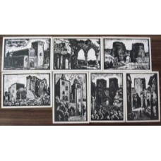 PORTUGAL, 1953, MONUMENTOS, OM#128, SÉRIE C, 8-14, IN, MNH