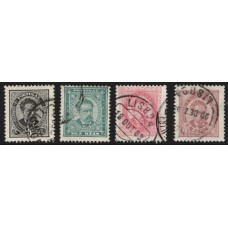 PORTUGAL, 1884/87, D. LUIS I, CE#60-63, O