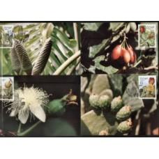 PORTUGAL, 1992, FRUTOS E PLANTAS SUB-TROPICAIS DA MADEIRA, AF#2057-60, PM