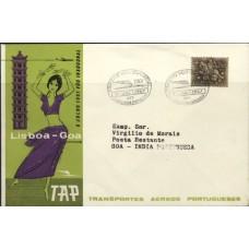 TAP, 1961, VÔO INAUGURAL LISBOA-GOA PELA TAP (TAP196101)