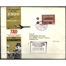 TAP, 1962, 1º VÔO LISBOA-LONDRES, CARAVELA VI-R (V0304)
