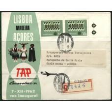 TAP, 1962, 1º VÔO LISBOA-SANTA MARIA CARAVELA VI-R (TAP196203)