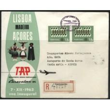 TAP, 1962, 1º VÔO LISBOA-SANTA MARIA CARAVELA VI-R (TAP196204)