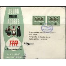 TAP, 1962, 1º VÔO LISBOA-SANTA MARIA CARAVELA VI-R (TAP196205)