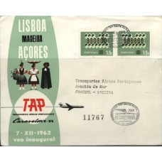 TAP, 1962, 1º VÔO SANTA MARIA - LISBOA CARAVELA VI-R (TAP196206)