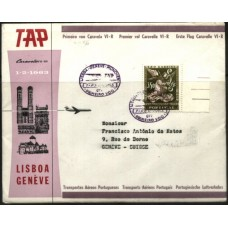 TAP, 1963, 1º VÔO LISBOA-GENEBRA, CARAVELA VI-R (TAP196301)