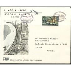 TAP, 1963, 1º VÔO LISBOA-LUANDA (TAP196303)