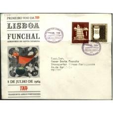 TAP, 1964, 1º VÔO LISBOA-FUNCHAL (TAP196401)